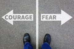 A coragem e o medo arriscam o engodo forte do negócio da força futura da segurança Fotografia de Stock Royalty Free