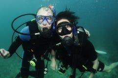 Corail d'organe et plongeur autonome Photographie stock libre de droits