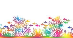 Corail de couleur illustration stock