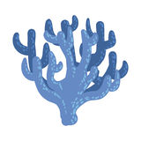 Corail mou bleu d'Antler, icône tropicale de Marine Invertebrate Animal Isolated Vector de récif illustration stock