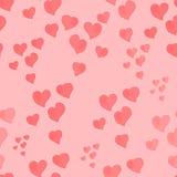 Corail vivant de fond avec la valentine de coeurs sans couture photographie stock libre de droits