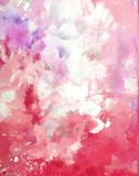 Coral Abstract Art Painting Fotografia Stock Libera da Diritti
