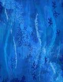 Coral Background em cores azuis - submarino - oceano ilustração stock