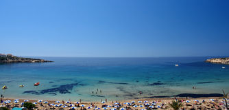 Coral bay beach  in cyprus island Stock Images