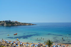 Coral bay in cyprus stock image