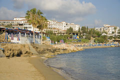 Coral bay resort on Cyprus Royalty Free Stock Images