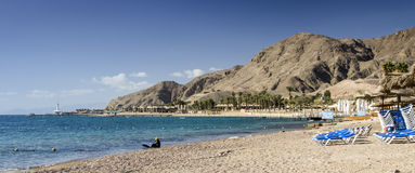 Coral beach in Eilat, Israel Stock Photos