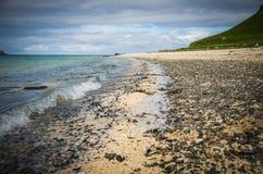 Coral Beach i Claigan på ön av Skye i Skottland Fotografering för Bildbyråer