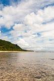 Coral Beach i Guam Arkivbilder