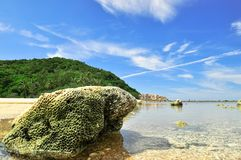 Coral Beach in Koh Phangan, Thailand. Stock Photos