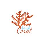 Coral beach logo template Stock Photo