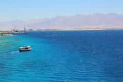 Coral Beach Nature Reserve en Eilat, Israel Imagenes de archivo