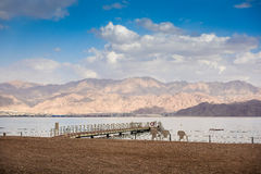 Coral Beach Nature Reserve over Red Sea in Eilat, Israel Royalty Free Stock Photo