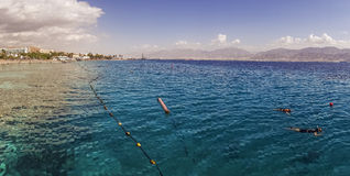 Coral Beach Nature Reserve over Red Sea in Eilat, Israel Stock Photos