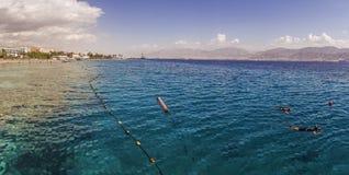 Coral Beach Nature Reserve sobre el Mar Rojo en Eilat, Israel Fotos de archivo