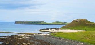 Coral bay rocky shoreline, Scotland Stock Photo