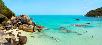 Coral beach panorama Royalty Free Stock Image