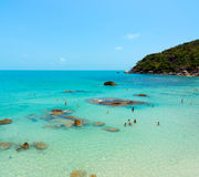 Coral beach panorama Royalty Free Stock Photo