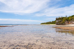 Coral Beach. In Ritidian, Guam Royalty Free Stock Images
