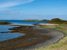 Coral Beaches Isle de Skye, Escócia fotos de stock