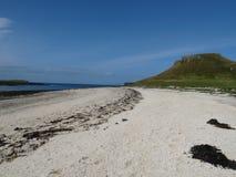 Coral Beaches Isle de Skye, Escócia fotos de stock royalty free
