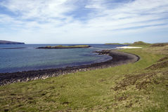 Coral Beaches, Loch Dunvegan, Eiland van Skye, Schotland Stock Foto