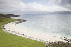 Coral Beaches in Waternish; Isle of Skye. In Scotland; UK royalty free stock photography