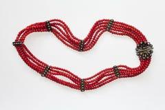 Coral Beaded Necklace Foto de archivo