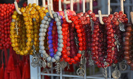 Coral Beads and Bracelets for Sale in Legian Shop, Bali. Royalty Free Stock Images