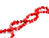 A coral beads isolated Royalty Free Stock Photography