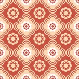 Coral and Beige Floral Seamless Pattern Stock Photography