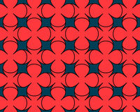 Coral blue background. With a pattern of simple flowers Royalty Free Stock Images