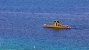 :Coral 2000 boat in Coral Beach Nature Reserve in Eilat, Israel.I. EILAT, ISR - APRIL 14 2015:Coral 2000 boat in Coral Beach Nature Reserve in Eilat, Israel.It's stock video