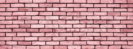 Coral Brick Wall Texture Close Up Stock Image