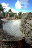 Coral Castle Florida. Coral Castle Clock and Formations in Florida Stock Images