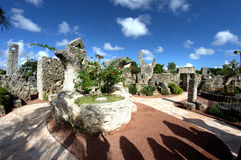 Coral Castle Florida. Coral Castle Formations in Florida Royalty Free Stock Photography