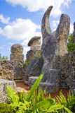 Coral Castle. Formerly Rock Gate, in Hialeah Miami  mostly made of Oolitic Limestone, formed from coral, created by the Latvian American Edward Leedskalnin Royalty Free Stock Photos