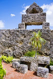 Coral Castle. Formerly Rock Gate, in Hialeah Miami  mostly made of Oolitic Limestone, formed from coral, created by the Latvian American Edward Leedskalnin Stock Photo