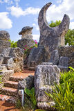 Coral Castle. Formerly Rock Gate, in Hialeah Miami  mostly made of Oolitic Limestone, formed from coral, created by the Latvian American Edward Leedskalnin Royalty Free Stock Photography