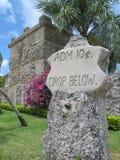 Coral Castle i fritidstaden, Florida, USA Arkivfoto