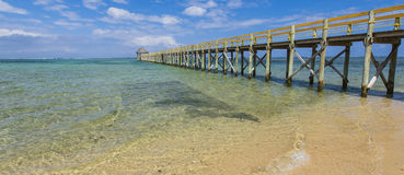 Coral Coast Jetty Royalty Free Stock Photos