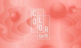Coral Color Background Modello fluido di forme royalty illustrazione gratis