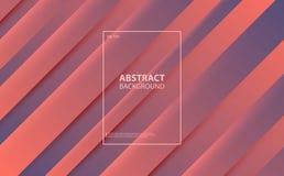 Coral Color del fondo abstracto del año 2019 Formas vibrantes de la pendiente de Coral Color ilustración del vector