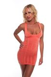 Coral dress Royalty Free Stock Image