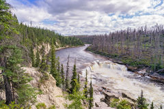Coral Falls. On Trout River, Northwest Territories, Canada Stock Photo