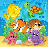 Coral fish theme image 2 royalty free illustration