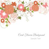 Coral Flowers Background Illustration Stock