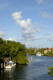 Coral Gables Canal. In Florida Royalty Free Stock Photography