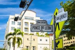 Coral Gables Cityscape royaltyfri fotografi