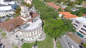 Coral Gables Florida aerial video Royalty Free Stock Image
